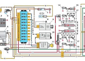 Электросхема света ВАЗ 2106
